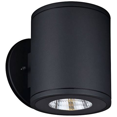 "Rox 7 1/4"" High Anthracite LED Outdoor Wall Light"