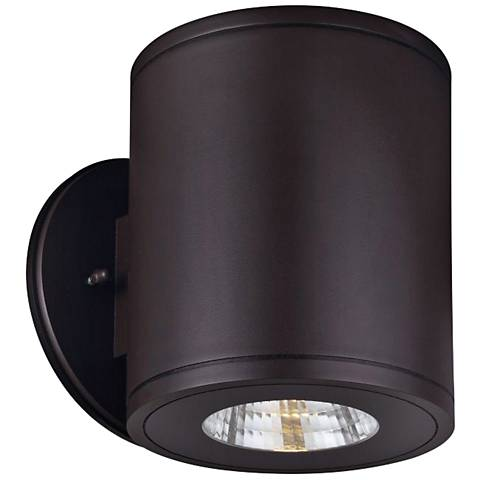 """Rox 7 1/4"""" High Architectural Bronze LED Outdoor Wall Light"""