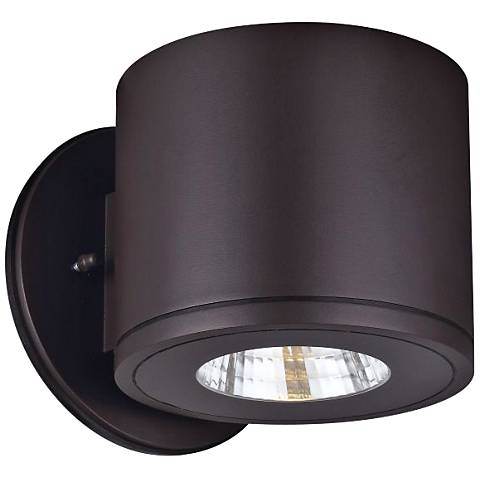 """Rox 5 1/4"""" High Architectural Bronze LED Outdoor Wall Light"""