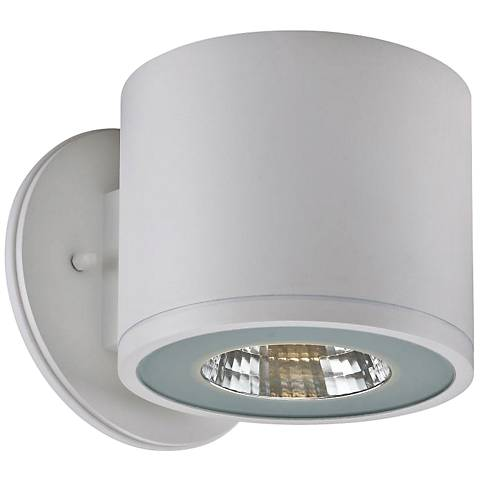 """Rox 5 1/4"""" High White LED Outdoor Wall Light"""