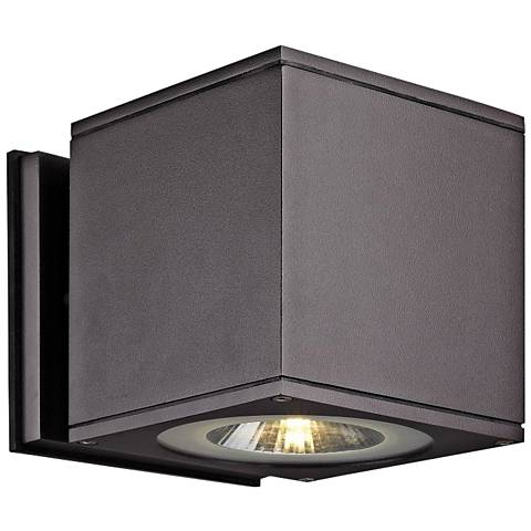 "Theo Down U-M 5 1/2"" High Bronze LED Outdoor Wall Light"