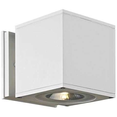 """Theo Down U-M 5 1/2"""" High White LED Outdoor Wall Light"""