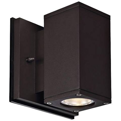 "Theo Down U-S 5 1/2"" High Bronze LED Outdoor Wall Light"