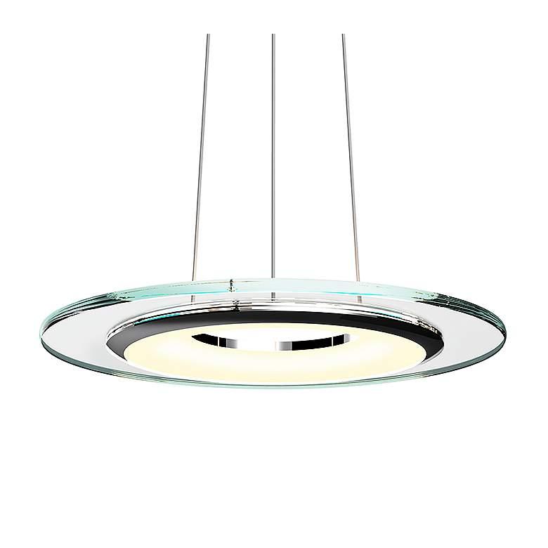 "Sonneman Float 18"" Wide Polished Chrome LED Pendant Light"
