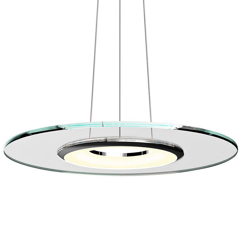 "Sonneman Float 24"" Wide Polished Chrome LED Pendant"