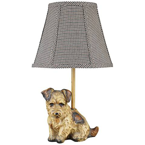 Buddy Antique Puppy Accent Table Lamp