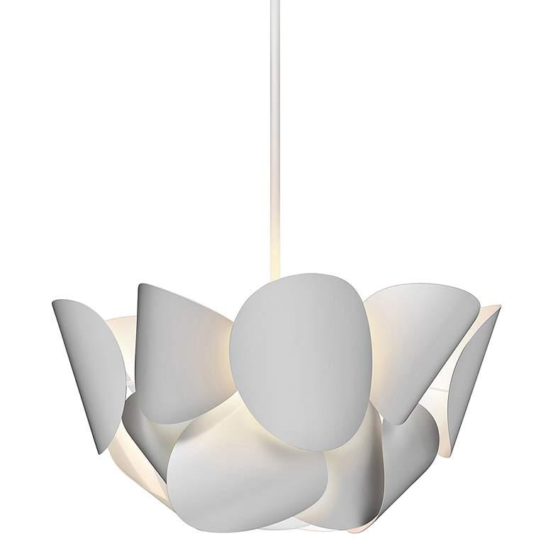"Sonneman Lotus 25 1/2"" Wide Satin White Pendant Light"