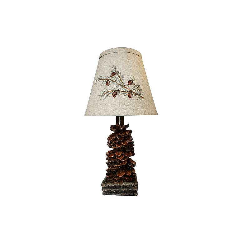 "Teton 13"" High Pine Cone Accent Table Lamp"