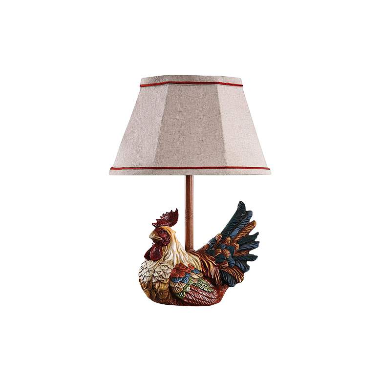 """Carlin 10"""" High Country Chicken Accent Table Lamp"""