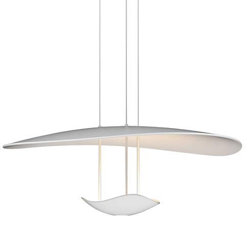 "Infinity Reflections 27 3/4""W Satin White LED Pendant Light"