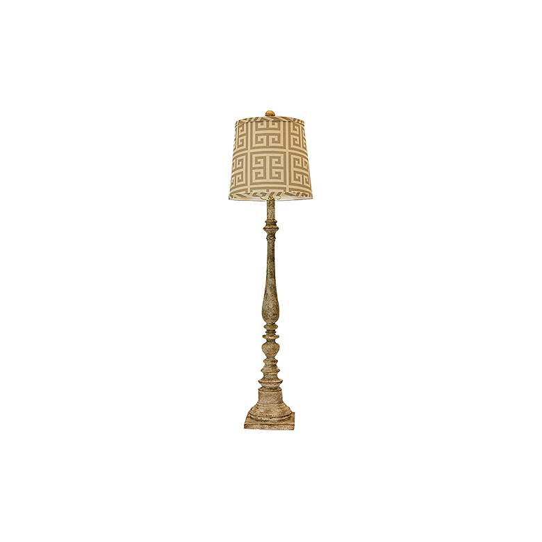 Merriweather Greek Key Tall Buffet Table Lamp