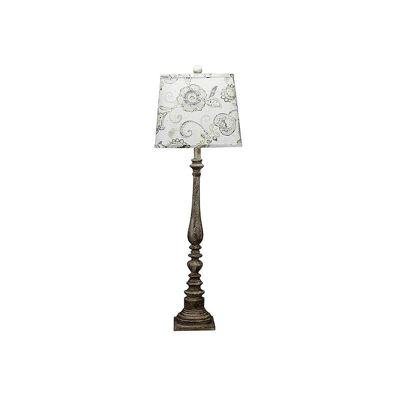 Merriweather Flower Crest Tall Buffet Table Lamp
