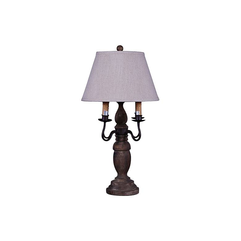 """Wimberly 26"""" High Faux Wood Candelabra Table Lamp"""