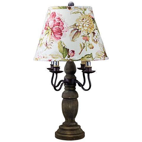 "Wimberly 26"" High Candelabra Table Lamp with Rose Shade"