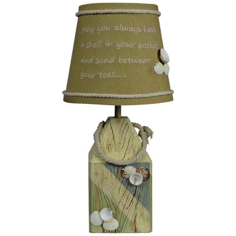"Coastal 14"" High Shell Buoy Accent Table Lamp"