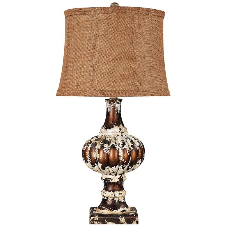 Parma Distressed Brown Traditional Table Lamp