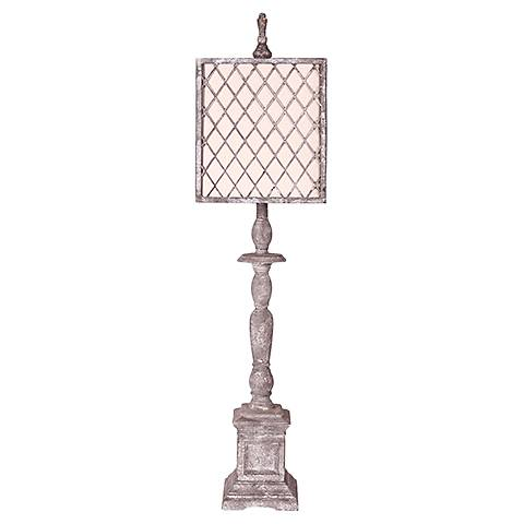 Scarborough Light Gray Buffet Table Lamp