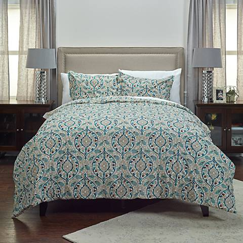 D'Vine 3-Piece Teal Comforter Set