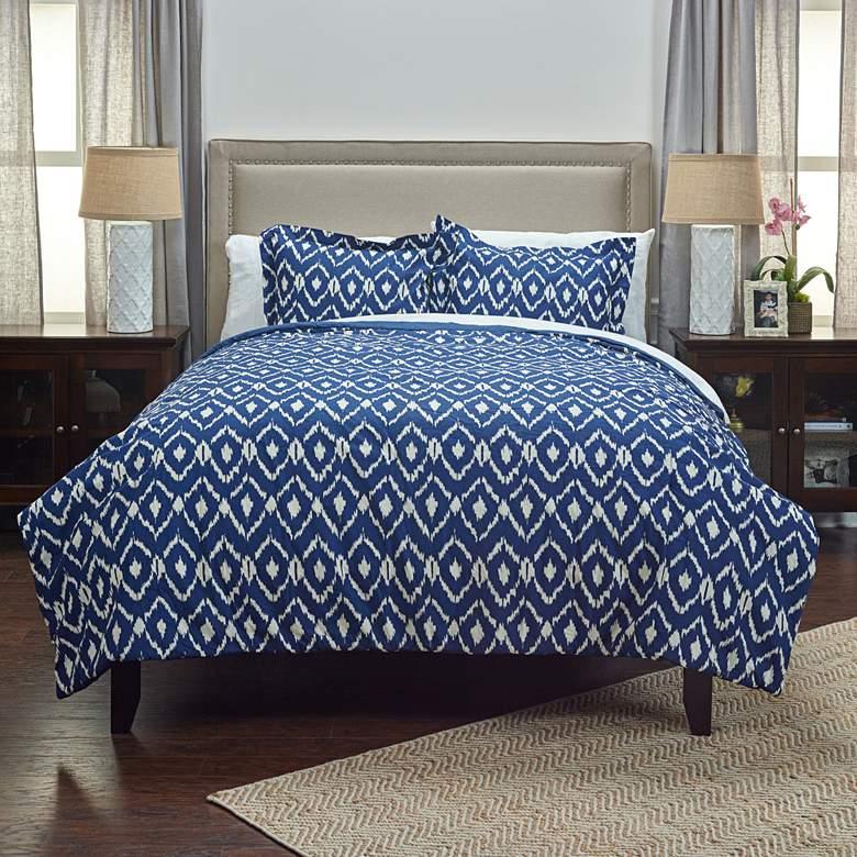 Kalaloo 3-Piece Indigo Comforter Set
