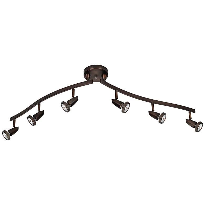 Mirage 6-Light Bronze Adjustable LED Track Fixture