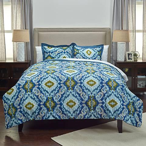 Seaglass 3-Piece Blue Comforter Set