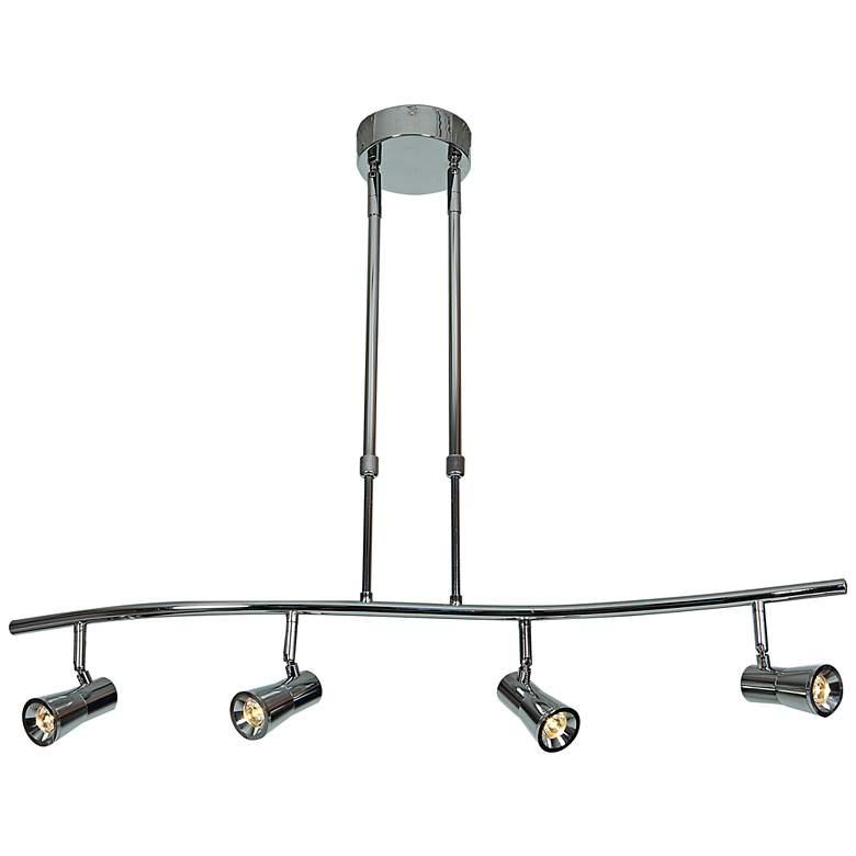 Sleek 4-Light Brushed Steel Extendable LED Track Fixture