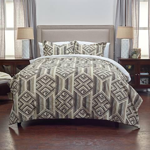 Tacton 2-Piece Gray Comforter Set