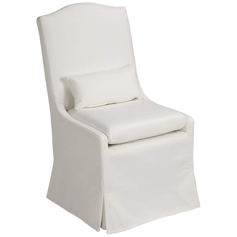 Juliete Peyton Pearl Slipcover Dining Chair