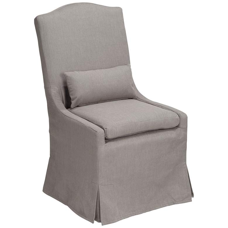 Juliete Peyton Slate Gray Slipcover Dining Chair
