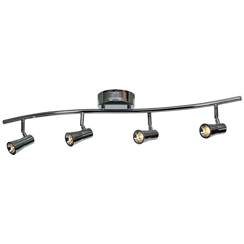 Sleek 4-Light Brushed Steel LED Track Fixture