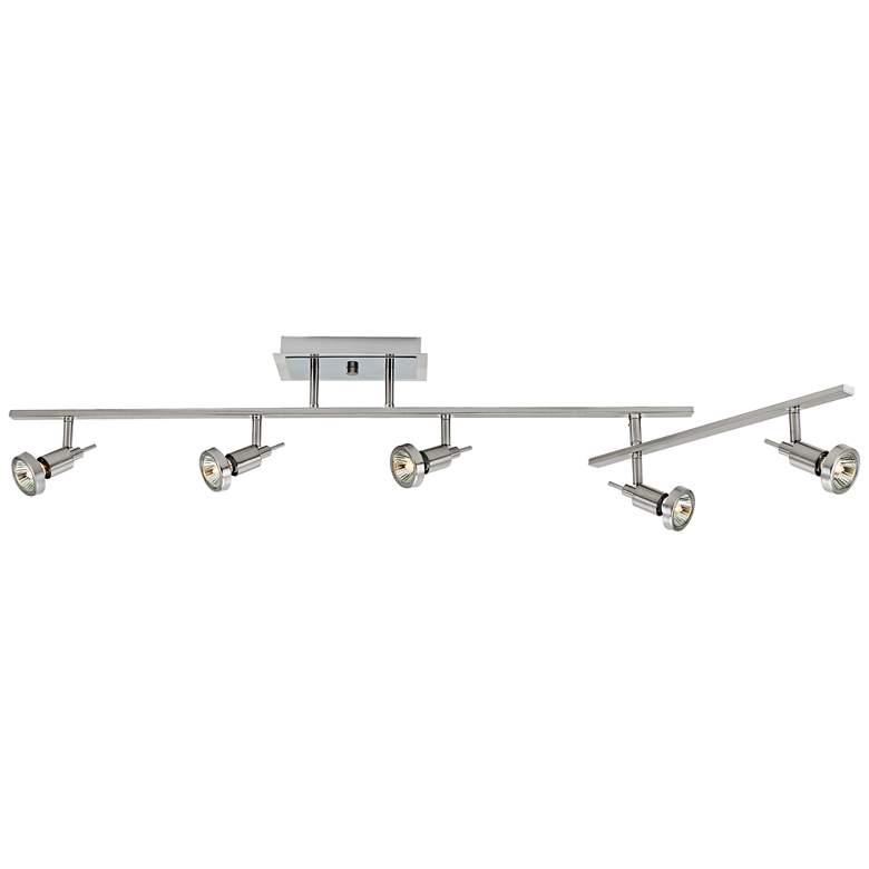 "Viper 51 1/2"" Wide 5-Light Brushed Steel LED Track Fixture"