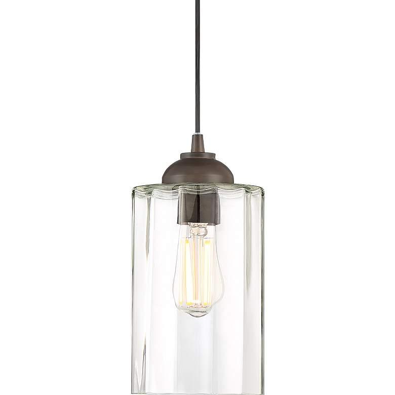 "Possini Euro Hawthorne 5 1/4"" Wide Bronze LED Mini Pendant"