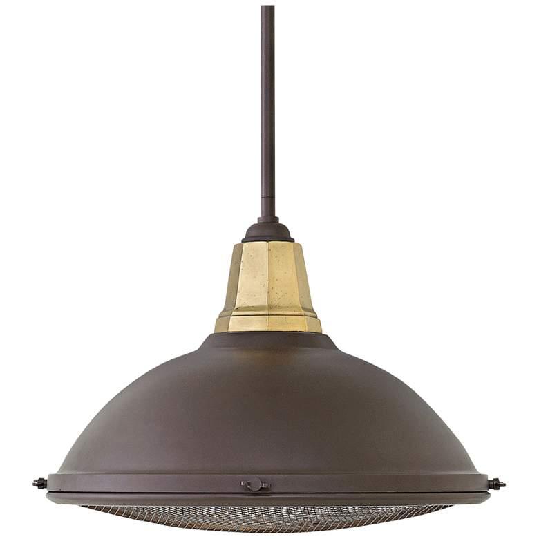 """Hinkley Barstow 16 1/4"""" Wide Buckeye Bronze Pendant Light"""