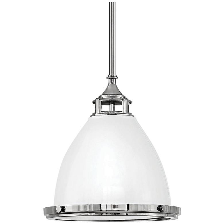 "Hinkley Amelia 13"" Wide Polished White Pendant Light"
