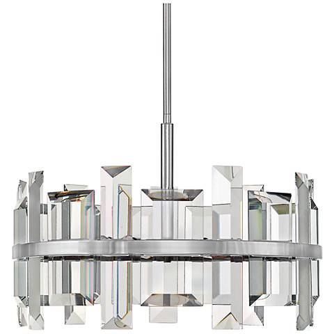 "Hinkley Odette 24"" Wide Polished Nickel Pendant Light"