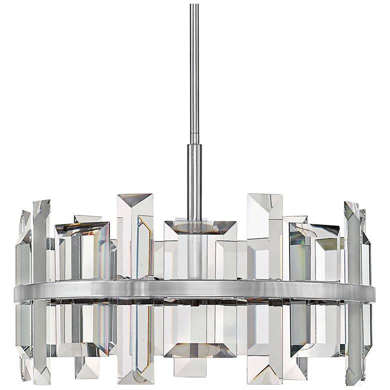"""Hinkley Odette 24"""" Wide Polished Nickel Pendant Light"""