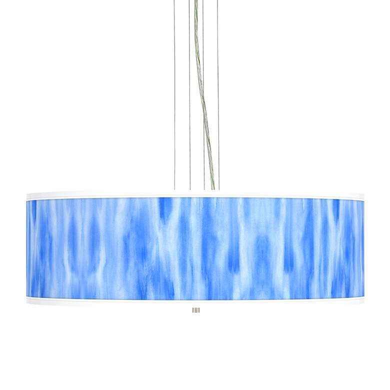 """Blue Tide Giclee 24"""" Wide 4-Light Pendant Chandelier"""