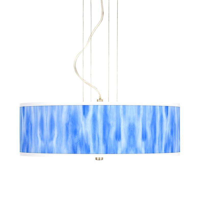 "Blue Tide 20"" Wide 3-Light Pendant Chandelier"
