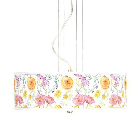 "Spring Garden 20"" Wide 3-Light Pendant Chandelier"