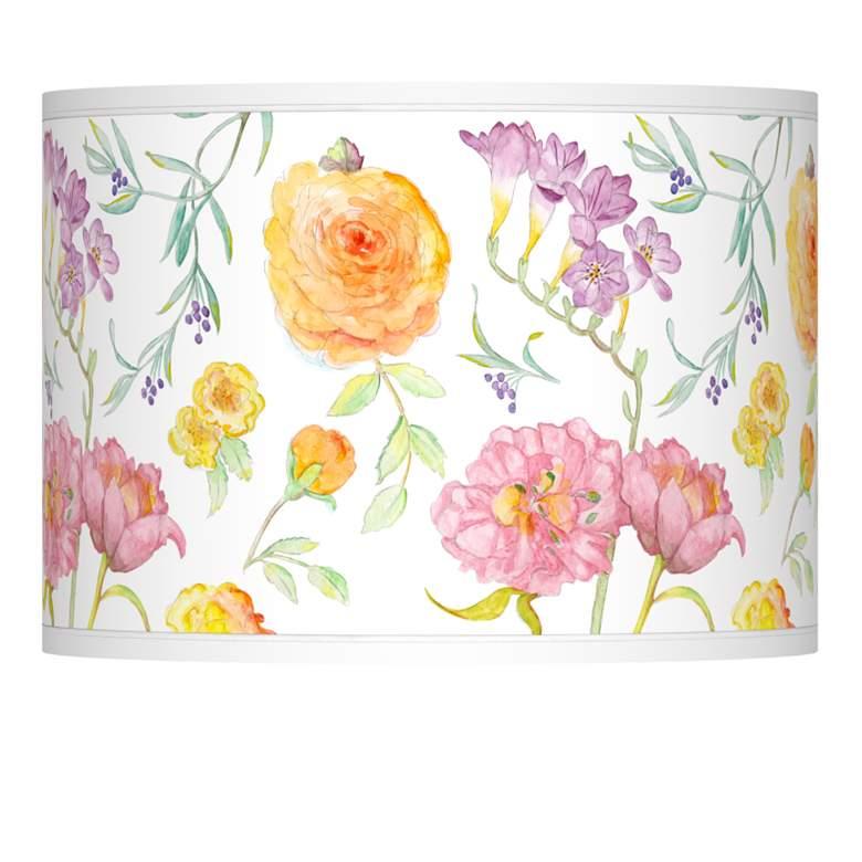 Spring Garden Giclee Lamp Shade 13.5x13.5x10 (Spider)