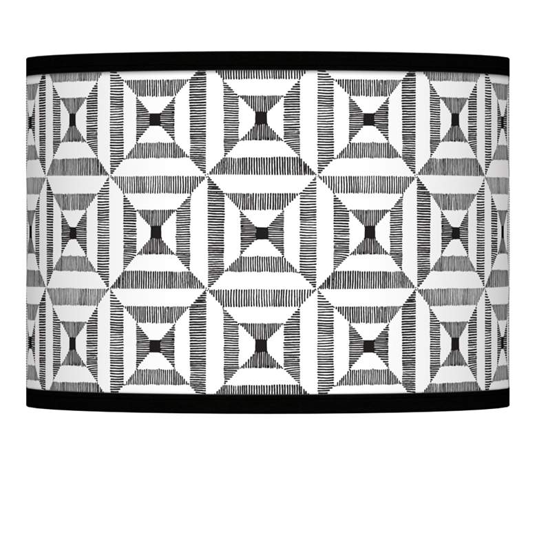 Tile Illusion Giclee Lamp Shade 13.5x13.5x10 (Spider)