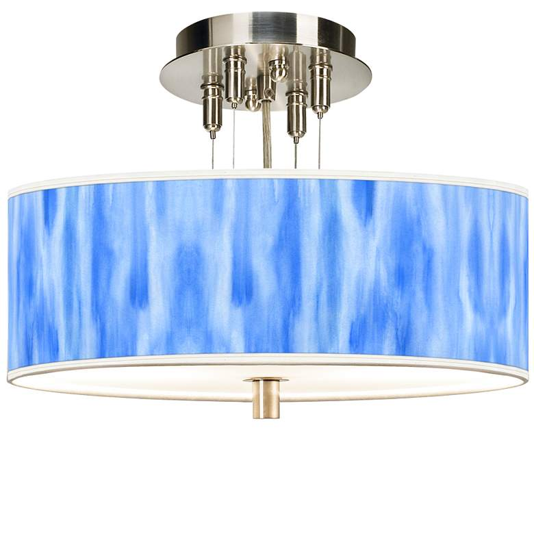 "Blue Tide Giclee 14"" Wide Ceiling Light"