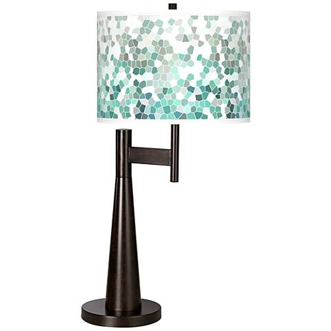 Aqua Mosaic Giclee Novo Table Lamp