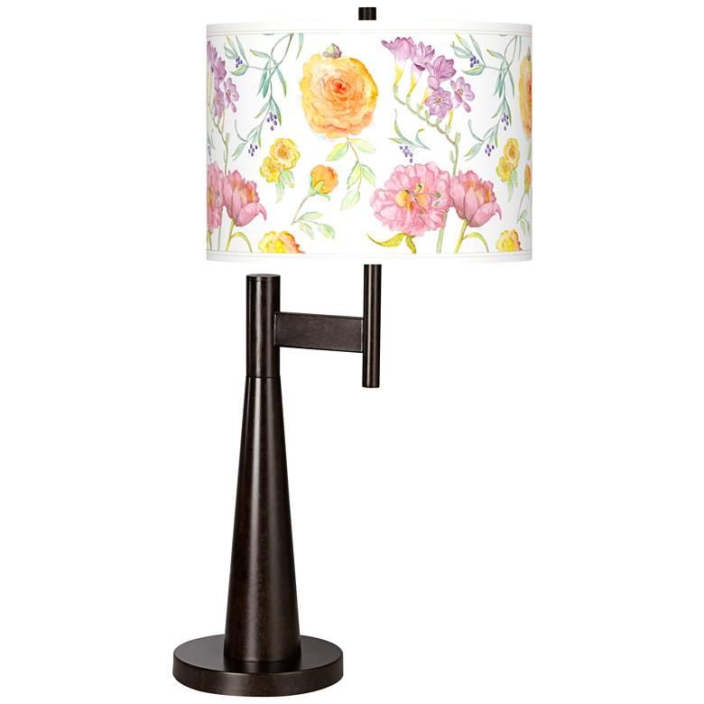Spring Garden Giclee Novo Table Lamp