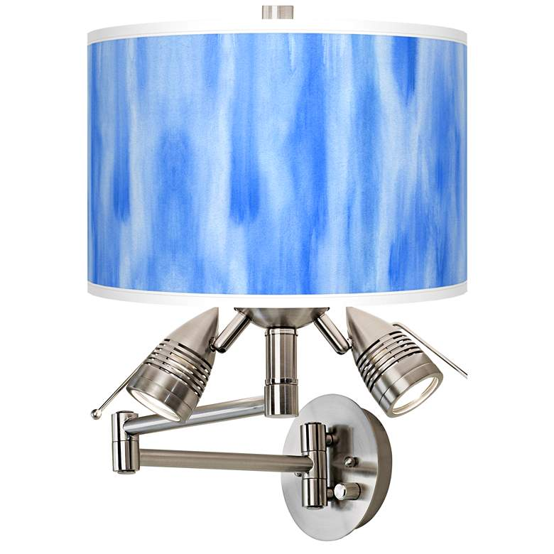 Blue Tide Giclee Plug-In Swing Arm Wall Lamp