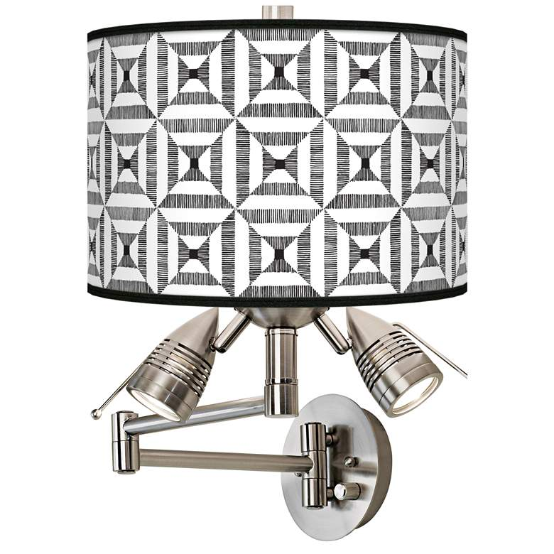 Tile Illusion Giclee Swing Arm Wall Light