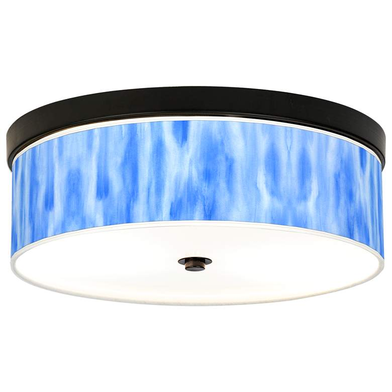 Blue Tide Giclee Energy Efficient Bronze Ceiling Light