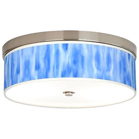 Blue Tide Giclee Energy Efficient Ceiling Light