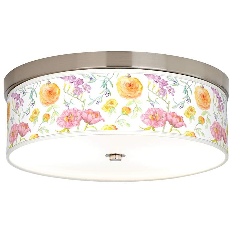 Spring Garden Giclee Energy Efficient Ceiling Light
