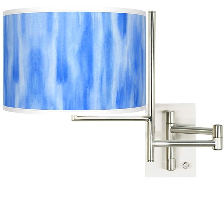 Tempo Blue Tide Plug-in Swing Arm Wall Light